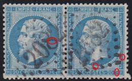N°22 Paire Positions 129A3 130A3, GC 2082 De Lons Le Saunier, Très Difficile à Placer, TB. - 1862 Napoléon III