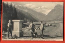 PEPC-03 Selten Klausenstrasse Grenzstein Zwischen Uri Und Glarus, BELEBT ! Gelaufen 1909 - GL Glaris