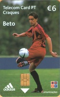 Portugal - PT427A, Craques - Beto, Adidas, Soccer Stars, 6 €, 80,000ex, 2/05, Used - Portugal