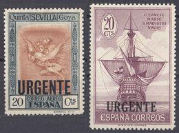 ESPAÑA - SPAGNA - SPAIN - ESPAGNE - 1930 - Lotto Di 2 Valori Nuovi Senza Gomma: Yvert Espresso 9 E 11. - Eilbriefmarken