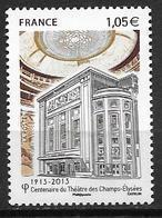 France 2013 N° 4737 Neuf Théatre Des Champs Elysées à La Faciale - Unused Stamps