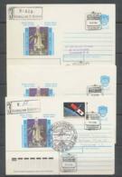 3627 Espace (space) Lot De 3 Entier Postal (Stamped Stationery) Russie (Russia Urss USSR) Soyuz Soyouz Tm-11 02/12/1990 - Russia & USSR