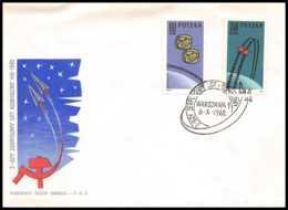 3774/ Espace (space Raumfahrt) Lettre (cover Briefe) 6/10/1962 Premier Vol Spatial Groupé VOSTOK 3 & 4 Pologne (Poland) - Covers & Documents