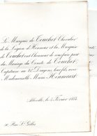 Mariage 1884 Marie Hennecart & Comte De Touchet Abbeville Paris - Mariage
