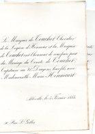 Mariage 1884 Marie Hennecart & Comte De Touchet Abbeville Paris - Wedding