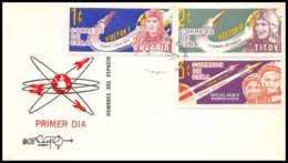 4095/ Espace (space Raumfahrt) Lettre (cover Briefe) 1963 COSMONAUTES Fdc Cuba - Covers & Documents