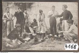 4168 AK/PC/CPA LA SOUPE AU CANTONNEMENT 1913 TTB - Manovre