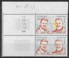 France -1959 - Variété - Charles Goujon Et Colonel Rozanoff -Y&T N° 1213 ** Neuf Luxe (voir Descriptif). - Varieteiten: 1950-59 Postfris