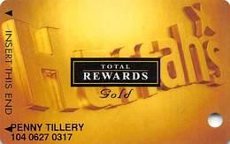 Harrah's Casino Multi-Property - TR Gold Slot Card @2002 - Casino Cards