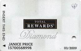 Harrah's Casino Multi-Property - TR Diamond Slot Card @2007 / 11 Casino Logos - Casino Cards