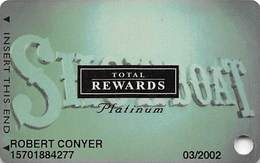 Showboat Casino - Atlantic City NJ - Total Rewards Platinum Slot Card - No Date - Casino Cards