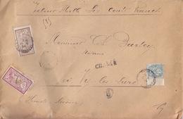 Gd Lettre Chargé (V.D. 1600f) Affranchie à 1f55 (1f Et 50c Merson Et 5c) Obl. Paris R.de Grammond Le 18/5/04 Pour Lure - Marcophilie (Lettres)