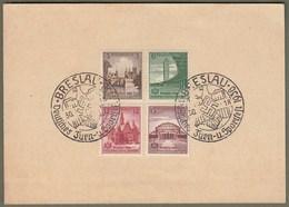"""Deutsches Reich: Sonderkarte Mit Dt. Reich Mi-Nr. 665-68 SST:  """" Turn- Und Sportfest Breslau 1938 """" !     X - Deutschland"""