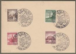 """Deutsches Reich: Sonderkarte Mit Dt. Reich Mi-Nr. 665-68 SST:  """" Turn- Und Sportfest Breslau 1938 """" !     X - Allemagne"""