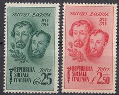 REP. SOCIALE ITALIANA - 1944 - Lotto Di 2 Valori Nuovi Senza Gomma: Yvert 41 E 43. - 4. 1944-45 Social Republic