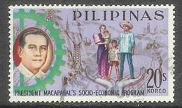 1963 Social-Economic Program, 20s, Used - Philippines