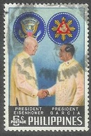 1960 USA President Eisenhower Visit, 6s, Used - Philippines