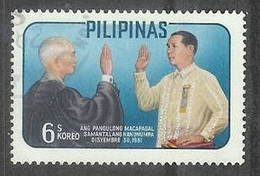 1962 President Macapagal Oath, 6s, Used - Philippines