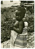 LIBERIA : NATIVE CHILD AND DOLLY - BOY SCOUTS OF LIBERIA STAMP  / ADDRESS - HAMPTON (10 X 15cms Approx.) - Liberia