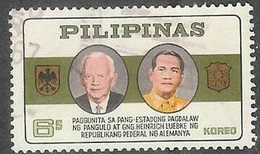 1965 Germany President Lubke Visit, 6s Used - Philippines