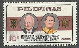 1965 Germany President Lubke Visit, 10s, Used - Philippines