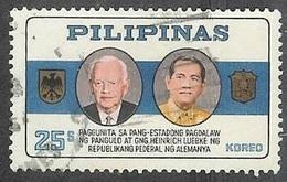 1965 Germany President Lubke Visit, 25s, Used - Philippines