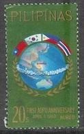 1963 Asian-Oceanic Postal Union, 20s, Used - Philippines