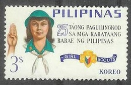 1966 Girl Scouts, 3s, Used - Philippines