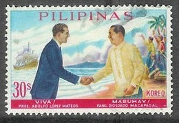 1963 Mexico President Mateos Visit, 30s, Used - Philippines