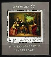 """UNGARN - Block Nr. 58 A Internationale Briefmarkenausstellung """"AMPHILEX 67"""" Gestempelt - Blocks & Kleinbögen"""