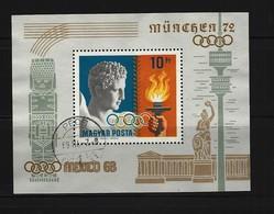 UNGARN - Block Nr. 69 A Olympische Sommerspiele, Mexiko-Stadt (1968) Und München (1972) Gestempelt - Blocks & Kleinbögen