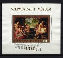 UNGARN - Block Nr. 76 A Diana Und Kallisto; Von Abraham Janssens Gestempelt - Blocks & Kleinbögen