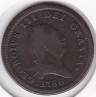 Isle Of Man 1 Penny 1786 George III , En Cuivre. KM# 9.1 - Isle Of Man