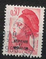 SAINT PIERRE ET MIQUELON     N° YVERT  :  458           OBLITERE     ( OB   03/62  ) - St.Pierre & Miquelon