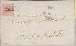 Italien - Königreich Neapel 2 Gr. Brief  Salerno - Bari 1860 - Ohne Inhalt - Italia