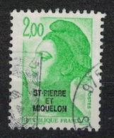 SAINT PIERRE ET MIQUELON     N° YVERT  :  463           OBLITERE     ( OB   03/62  ) - St.Pierre & Miquelon
