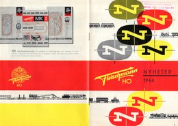 Catalogue FLEISCHMANN Nyheter 1964 Skala HO Brochure Schwedische Ausgabe - En Suédois - Livres Et Magazines