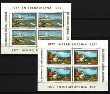 RUMÄNIEN - Block Nr. 141 + 142 INTEREUROPA Postfrisch - Blocks & Kleinbögen