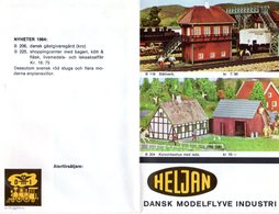 Catalogue HELJAN Nyheter 1964 Skala HO Brochure Schwedische Ausgabe - En Suédois - Livres Et Magazines