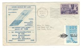 19180 - Courrier  Par Fusée - Luftpost