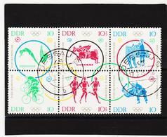 YZO534 DDR 1964  Michl 1039/44 Gestempelt ZÄHNUNG Siehe ABBILDUNG - [6] República Democrática