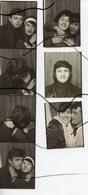 7 Photomatons, Photobooths .Photo Identité. Couple D'amoureux Qui S'embrasse. Homme , Femme . - Personnes Anonymes