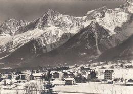 Cp , 74 , LES HOUCHES - MONT-BLANC, Vue Partielle Du Pays, Panorama Sur L'Aiguille Du Midi, 3842 M., Mont-Blanc Du Tacul - Les Houches