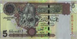 Libya 5 Dinars (P69) Sign 9 -UNC- - Libya