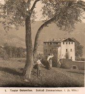 AK-2060/ Schloß Zimmerlehen B. Völs Italien Dolomiten NPG Stereofoto Ca.1905 - Stereoscopio