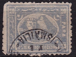 EGYPT 1872 20 Pa Blue Y&T 10 A Cancellation Ismalia As Shown On Scan (2nd Choice) - Egypte