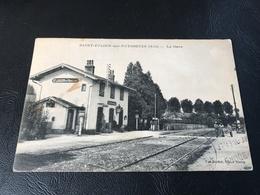 SAINT JULIEN SUR REYSSOUZE (Ain) La Gare - 1930 Timbrée - Sonstige Gemeinden