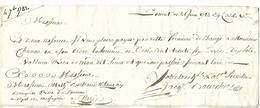 Lettre De Change 1782 / 56 LORIENT / Traite Première 336 Livres 10 Sols Pour B. MATZ Banquier à PARIS Rue De Poceau - 1774-1791 Louis XVI