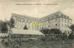 56 Le Faouet, Collège Du Sacré Coeur, Vue Prise Du Jardin, Belle Serre En Avant, Carte Pas Courante - Le Faouet