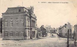 SIVRY (Hainaut) - Hôtel Communal Et Grand'Rue - Ed. Bruaux. - Sivry-Rance